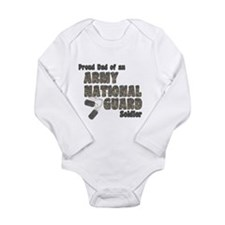 National Guard Dad (tags) Long Sleeve Infant Bodys