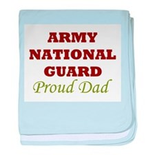 National Guard Proud Dad baby blanket