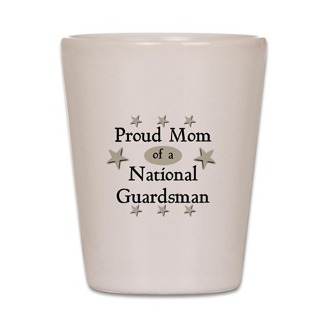 Proud Mom National Guard Shot Glass