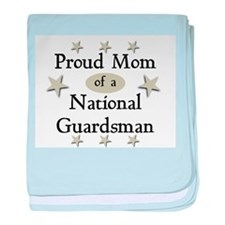 Proud Mom National Guard baby blanket