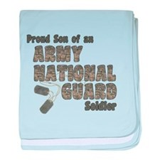 National Guard Son (tags) baby blanket