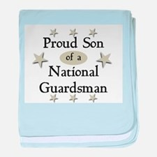 Proud Son National Guard baby blanket