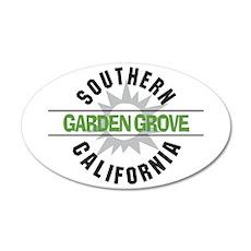 Garden Grove California 38.5 x 24.5 Oval Wall Peel