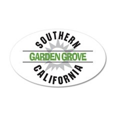 Garden Grove California 22x14 Oval Wall Peel