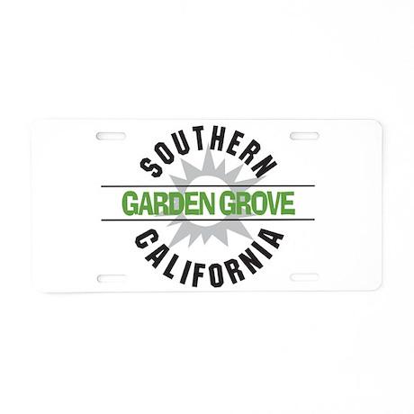 Garden Grove California Aluminum License Plate