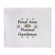 Proud Aunt National Guard Throw Blanket