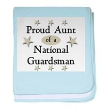 Proud Aunt National Guard baby blanket