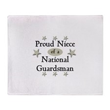 Proud Niece National Guard Throw Blanket