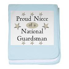 Proud Niece National Guard baby blanket