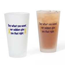 Soldiers Right Drinking Glass