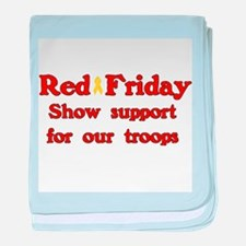 Red Friday baby blanket