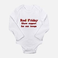 Red Friday Long Sleeve Infant Bodysuit