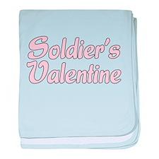 Soldier's Valentine baby blanket