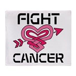 Fight Cancer Throw Blanket
