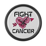 Fight Cancer Large Wall Clock