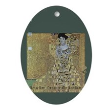 Klimt's Adele Bloch-Bauer Art Ornament (Oval)