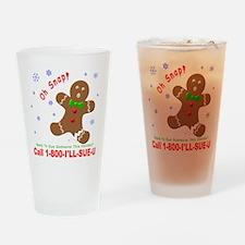 1-800-I'LL-SUE-U Drinking Glass