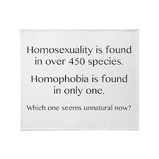 Homosexuality and Homophobia Throw Blanket