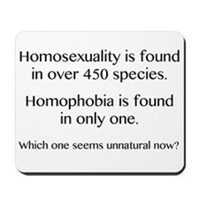 Homosexuality and Homophobia Mousepad