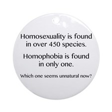 Homosexuality and Homophobia Ornament (Round)