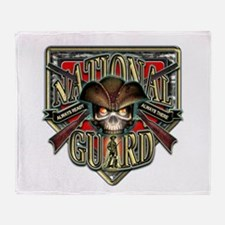 US Army National Guard Shield Throw Blanket