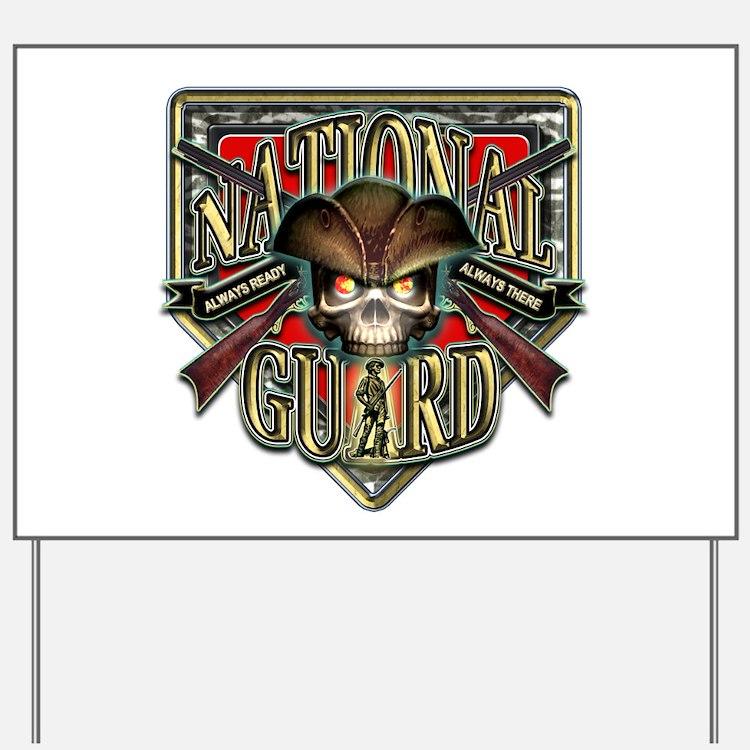 US Army National Guard Shield Yard Sign