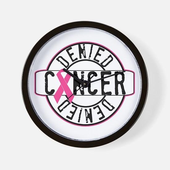 Cancer Denied Wall Clock