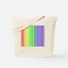 Rainbow Barcode Tote Bag