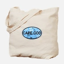 Cape Cod MA - Oval Design Tote Bag