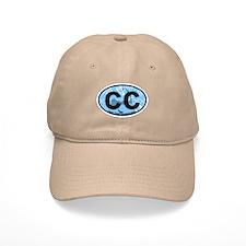 Baseball Cape Cod MA - Oval Design Baseball Cap