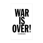 War Is Over! Sticker (Rectangle 50 pk)