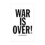 War Is Over! Sticker (Rectangle 10 pk)