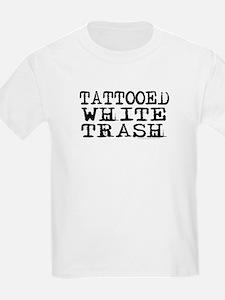 Tattooed White Trash (Block) Kids T-Shirt