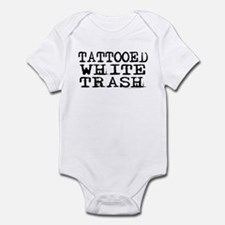 Offensive baby clothes gifts baby clothing blankets for Tattooed white trash t shirt