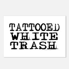 Tattooed White Trash (Block) Postcards (Package of