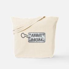 Army Mom Silver Dog Tag 3D Tote Bag