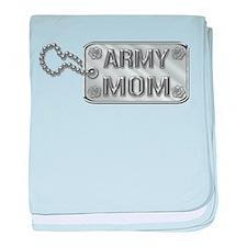 Army Mom Silver Dog Tag 3D baby blanket