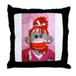 Sock Monkeys for the Cure Pink Ribbon Throw Pillow