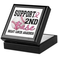 Second 2nd Base Breast Cancer Keepsake Box