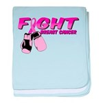 Fight Breast Cancer Pink Boxi baby blanket