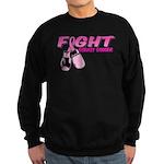 Fight Breast Cancer Pink Boxi Sweatshirt (dark)