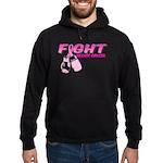 Fight Breast Cancer Pink Boxi Hoodie (dark)