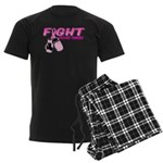 Fight Breast Cancer Pink Boxi Men's Dark Pajamas