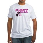 Fight Breast Cancer Pink Boxi Fitted T-Shirt