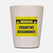 WARNING: Cognitive Dissonance Shot Glass
