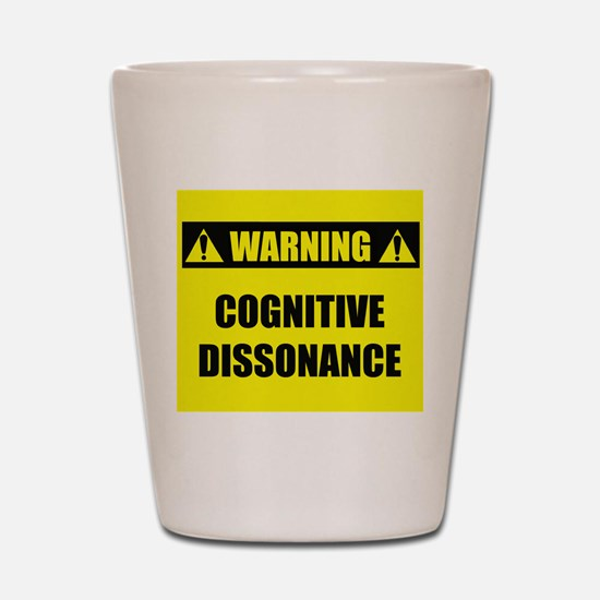 WARNING: Cognitive Dissonance Shot Glass