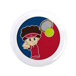 "Cute Tennis Boy 3.5"" Button (100 Pk)"