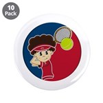 "Cute Tennis Boy 3.5"" Button (10 Pk)"