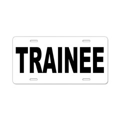 Trainee Aluminum License Plate