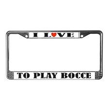 Bocce Lover License Plate Frame